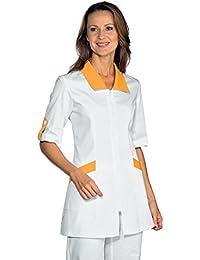 Isacco-Camiseta de manga corta, diseño de médico Tortola, macho/macho, color blanco y naranja