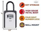 Jicson J58 Padlock With Key Storage Lock Box ( Weatherproof ) With Combination