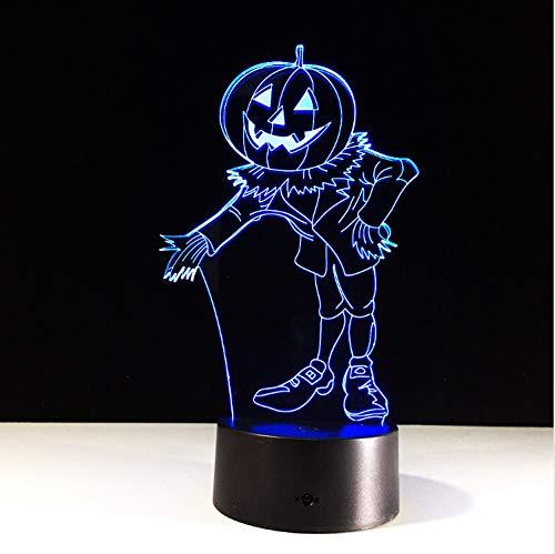 Hologramm 7 Farben Ändern Led Nachtlicht 3D Led Nachtlicht Led Tabelle Halloween ()