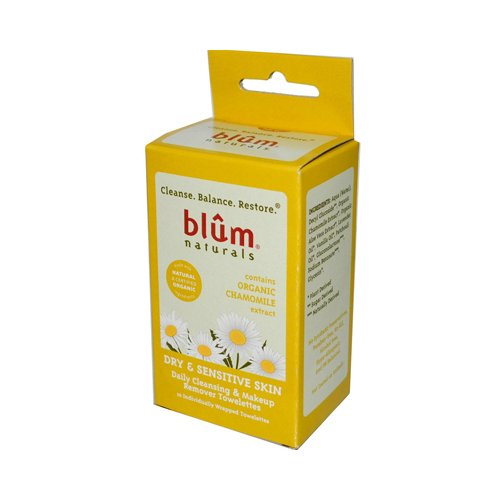 Blum Naturals Daily Dry/Sensitive Skin Towelettes, Chamomile, 10 Count by Blum Naturals (English Manual)