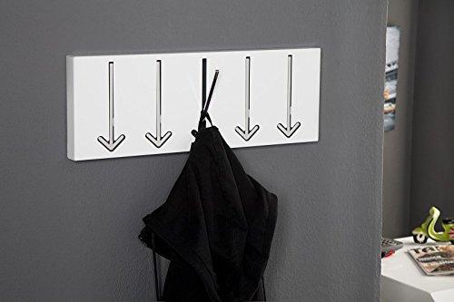 Attaccapanni Da Parete Di Design.Invicta Interior Appendiabiti Da Parete Di Design Arrow 5 Ganci Bianco