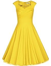 Vestito giallo anni 50