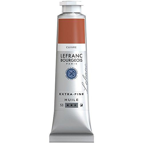 Lefranc & Bourgeois extra feine Lefranc Ölfarbe (hochwertige Künstlerpigmente) 40 ml Tube - Kupfer