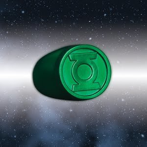 Blackest Night Green Lantern Ring Authentic DC Comics Plastic by DC - Green Lantern Kostüm Ring