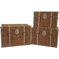 Adda Home Set 3 BAULES 66x48x45 / 60x42x41 / 54x36x37 CM - Muebles de Dormitorio precios