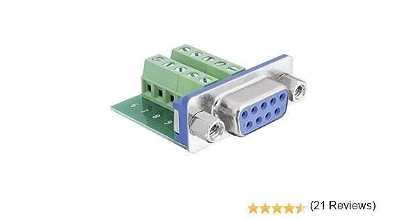 DeLOCK 65268 cavo di interfaccia e adattatore Sub-D 9 pin Terminal block 10 pin Verde