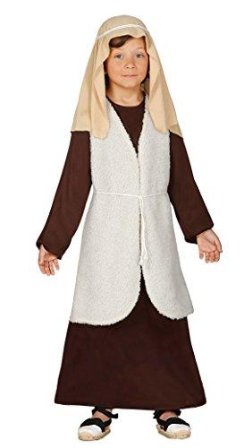 Guirca Kostüm-Hebräisch Hirte, 5–6Jahre 5-6 años braun