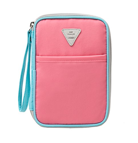 iSuperb Carteras para Pasaporte Mujer Passport Holder Family travel organizer wallet