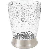 mDesign Portacepillos decorativo en plástico libre de BPA – Vaso para cepillos de dientes y accesorios