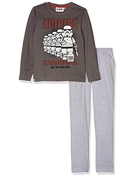 LEGO Star Wars Jungen Pyjama Schlafanzug - grau