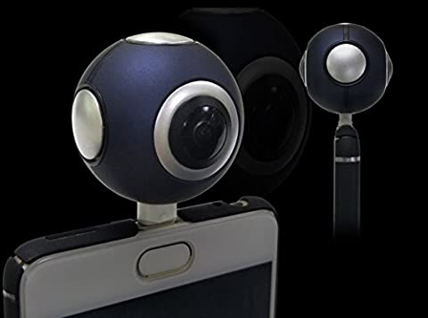 360 Kamera für Android, MECOLIN Dual sphärische Linse Panorama VR HD-Video kamera 3k Live-Streaming in 360 Grad (YouTube & Facebook )