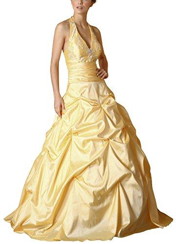 Romantic-Fashion Damen Ballkleid Abendkleid Brautkleid Lang Modell E450 A-Linie Perlen Pailletten DE...