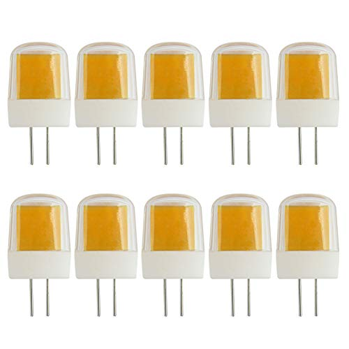 Jc Typ G4 Bi-pin (Dimmbare G4 LED-Leuchtmittel, 3 W, ersetzt JCD G4 30 W Halogenlampe, Warmweiß, 3000 K, 220-240 V, 10 Stück)