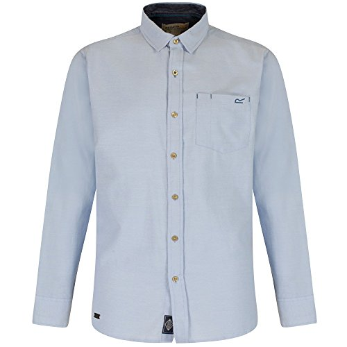 Regatta Mens Benas Long Sleeve Check Pattern Button Up Shirt (Button-up-shirt Kragen)