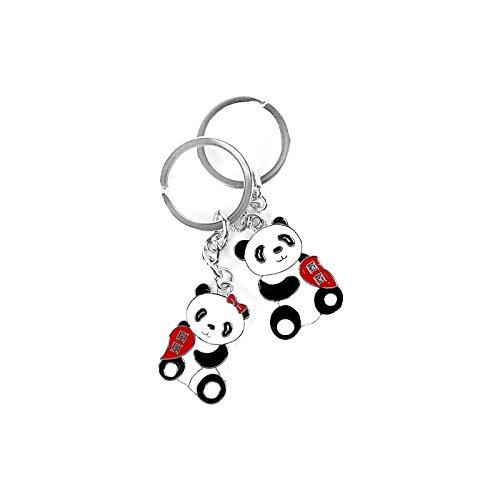 Express-geschenk-set (Cute chinesischen Panda Paar Schlüsselbund mit Metall-Schlüsselring-Geschenk-Set von The Express Panda®)