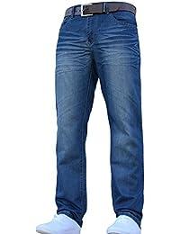 fac73dc8201 hommes Crosshatch classique coupe droite coupe standard élégant JEANS  toutes tailles tailles avec ceinture