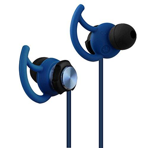 e-bour interno orecchio Sport per correre Fitness esterno GV2resistenti al sudore Auricolari della cuffia confortevole Stereo con micro per iPhone 566plus iPad Laptop Macbook MP3MP4Players, blu, GV2