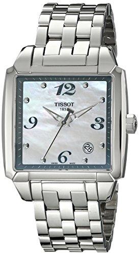 Tissot T-Quadrato T 0055101111700 - Reloj de mujer de cuarzo, correa de acero inoxidable color plata