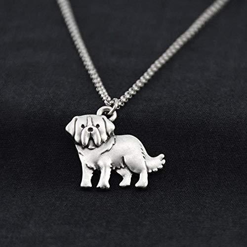 BSDN01 Retro Hund Haustier Charme Edelstahl Lange Kette Herren Accessoires Schmuck Weihnachtsschmuck, wie Gezeigt 2 -