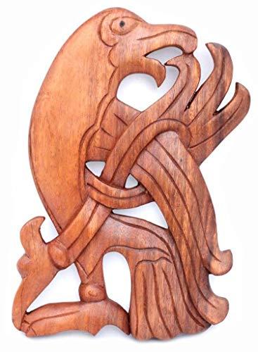 Windalf - Cuadro de Madera (24 cm de Alto, Hecho a Mano), diseño de Cuervo Vikingo