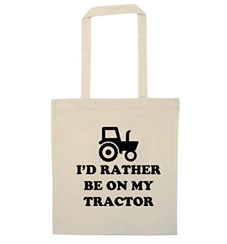 I'd rather be on my tractor tote bag (Hipster Id)
