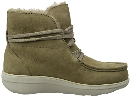 Fitflop Loaff Lace-Up Ankle Boot Shearling, Stivali Chukka Donna Beige (Desert Stone)