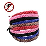 Mosquito Repellent Bracelets No To Zika Products - All Natural Mosquito Repellent Leather Lanyard Bracelet Bands | Deet Free Wristbands | No Spray Pest Control for Adults & Kids | Plant Oil Based | 2 Bands Per Re-sealable Ziploc Pack (5 Packs - 10 Bands)