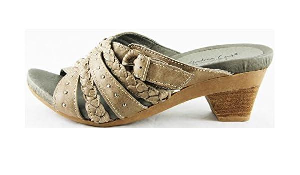Andrea Conti Schuhe Sandaletten Sandalen Echt Leder Grau 2176