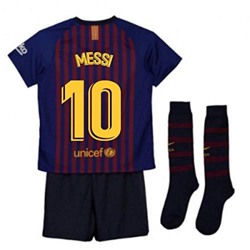 61934d7e1ea UKSoccershop 2018-2019 Barcelona Home Nike Little Boys Mini Kit (Lionel  Messi 10)