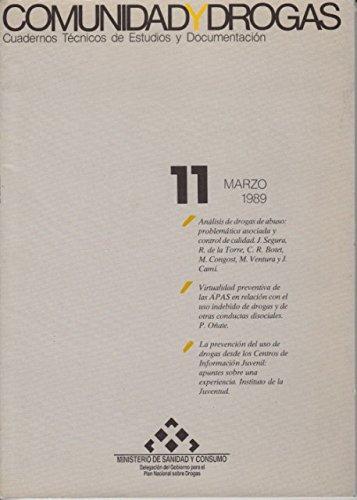 COMUNIDAD Y DROGAS Nº 11 (Análisis de drogas de abuso: problemática asociada y control de calidad; Virtualidad preventiva de las APAS en relación con el uso indebido de drogas