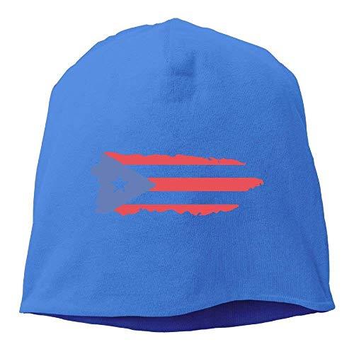 Unisex Puerto Rico Flag Hip-Hop Beanie Hat Skull Cap