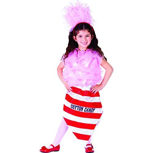 Dress Up America Kleines Mädchen Zuckerwatte Kostüm (Cotton Candy Kostüm)