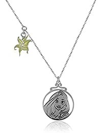 Disney Silver Plated Chain Necklace For Kids (Multi-Color) (S110509N/1)