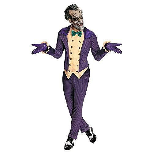 Fancy Dress Batman Schurken Kostüm - Rubie's Joker-Kostüm für Herren Gotham City-Kostüm Lizenzartikel lila-gelb-grün Einheitsgröße