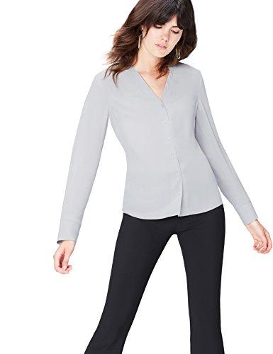 FIND Blusa Para Mujer, Gris (Grau), 42 (Talla del Fabricante: Large)