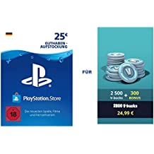 PSN Guthaben für Fortnite - 2.500 V-Bucks + 300 extra V-Bucks - 2.800 V-Bucks DLC | PS4 Download Code - deutsches Konto