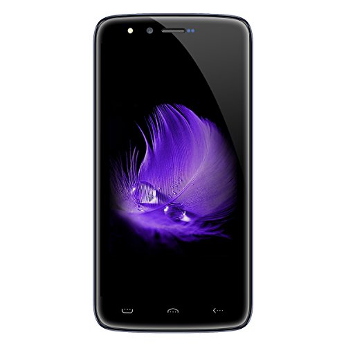 HOMTOM HT50 - 5,5 Zoll 4G Smartphone, Android 7.0 Quad Core 3GB + 32GB, Dual Kameras 13.0MP + 13.0MP, Dual SIM, Fingerabdruck Bluetooth 4.0 Entriegelte Handy, Blau