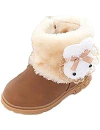 Zapatos de Bebé,Ouneed ®Zapatos de bebé de moda zapatos calientes suaves zapatillas suela antideslizante (13, Rosa caliente)