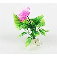 BAOLIJIN Acuario Lotus Adornos Flor para la decoración del Tanque de Peces Fish Tank Ornament