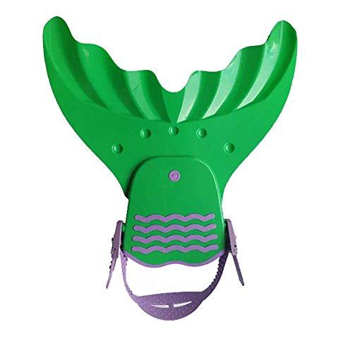 SueSupply Meerjungfrau Schwimmflossen Monoflosse Tauchflossen Schwanzflossefür Jugendliche Kinderschwimmen Erwachsenen 39.5*39cm,Grün