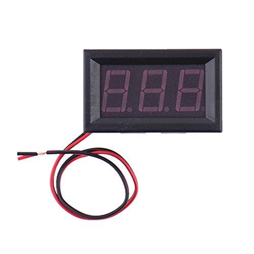 Sharplace 2 Draht Mini 0,56 '' Digital Spannung Meter AC Volt Prüfer LED-Panel Voltmeter Auto Motorrad - Grün -