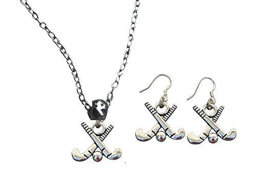 Collection Infinity Field Hockey Charm Halskette und Ohrringe Geschenkset Feldhockey Schmuck für Mädchen Feldhockeyspieler, Mütter und Trainer