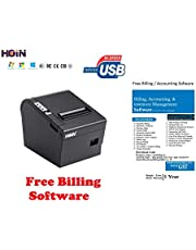 Hoin BIS Certified 80mm Direct Thermal Printer with Auto Cutter. USB + Lan Interface