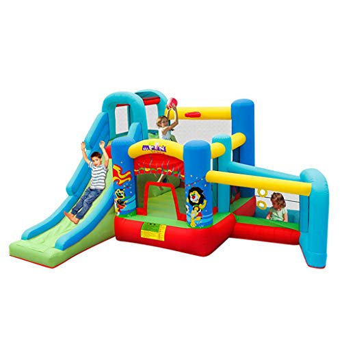 Bouncy Castles Sports Toys Small Children's Home Inflatable Castle Summer Indoor Amusement Park Children's Inflatable Playground Big Trampoline Inflatable Play Fence Children's Party