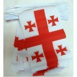 Georgien Land Flagge (World of Flaggen 6m 20Flagge Georgien Wimpelkette (Land))
