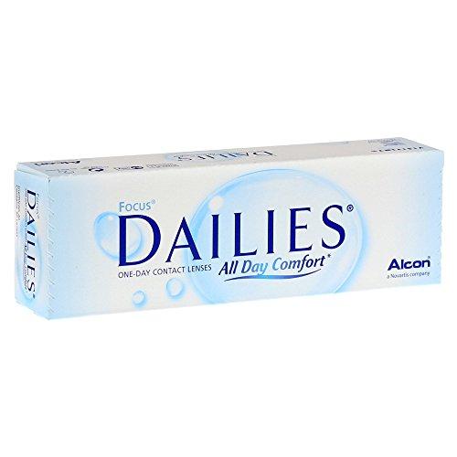 Focus Dailies All Day Comfort Tageslinsen weich, 30 Stück / BC 8.6 mm / DIA 13.8 / -2.75 Dioptrien