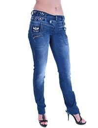 Cipo & Baxx Damen Jeans Hose Skinny CBW-0282