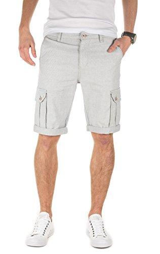 Yazubi Herren Shorts Daniel - Elegante, Cargo Shorts aus Sommerstoff mit Hahnentritt-Muster