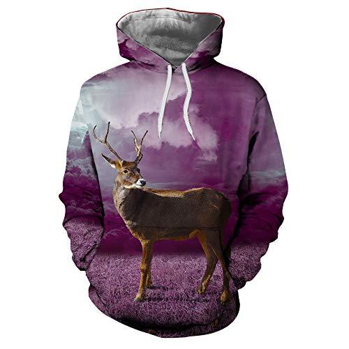 UFACE Loves 'Casual Herbst Winter Weihnachten Printing Long Sleeve Hoodies Sweatshirt