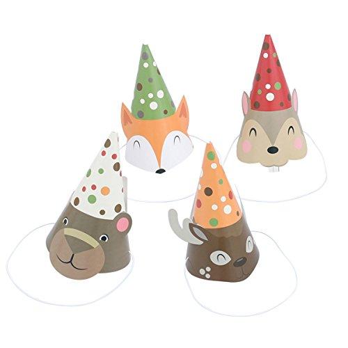 BESTOYARD 4pcs Partyhüte Geburtstag Party Krone Kegel Hüte in Tier-Form für Kinder